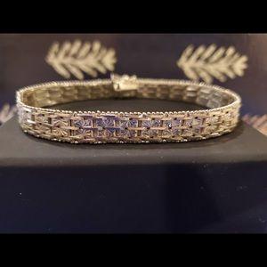 """Beautiful Heavy Sterling Bracelet -8"""""""